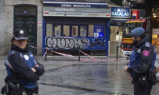 An verschiedenen Stellen in Madrid fielen Fassadenstücke auf die Straßen herab