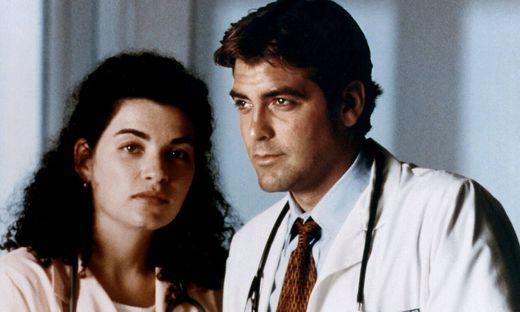 Julianna Margulies und George Clooney