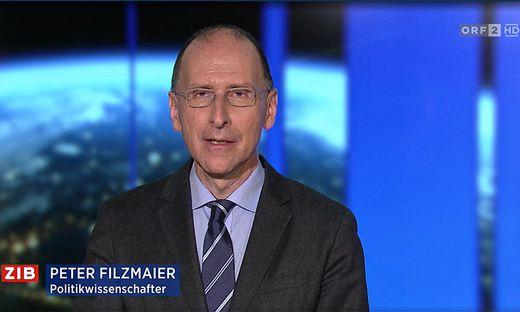 Politologe Peter Filzmaier nahm sich in der ZiB2 am Sonntag kein Blatt vor den Mund