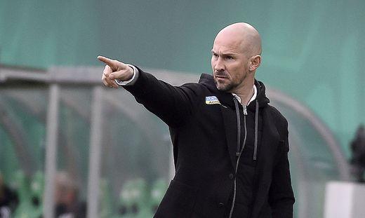 Platz zwei im Visier: Sturm-Trainer Christian Ilzer