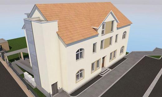 So soll das umgebaute Schulgebäude aussehen