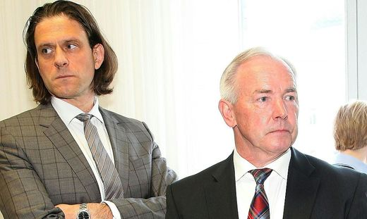 Gerhard Dörfler mit seinem Anwalt Gunter Huainigg