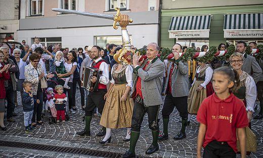 Aufstellung Freyung Wiesenmarkt St. Veit September 2019
