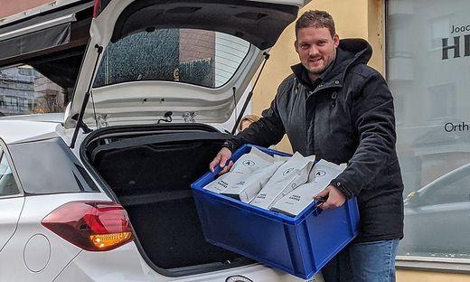 Martin Kribitsch liefert seine Kaffeespezialitäten zu den Kunden nach Hause