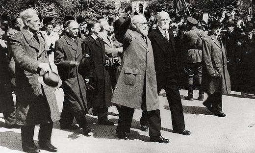 Renner, Koerner, Schaerf, Figl auf dem Weg ins Parlament