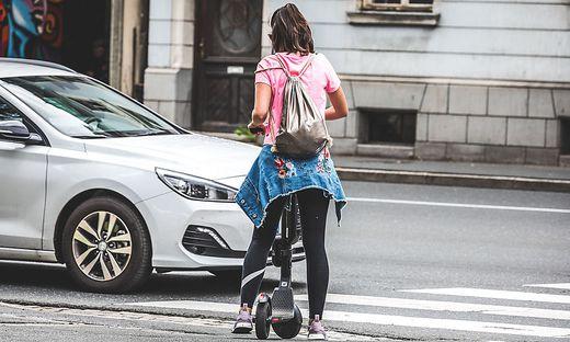 Die E-Scooter prägen in Klagenfurt bereits das Stadtbild