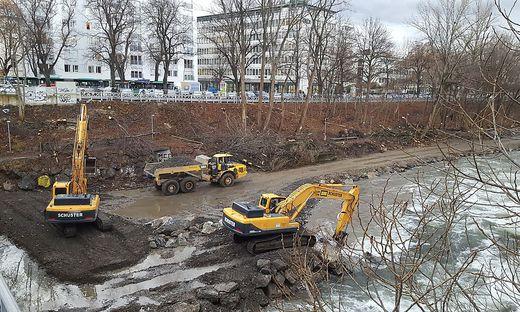 Zentraler Speicherkanal Baumrodung Foto: Penz