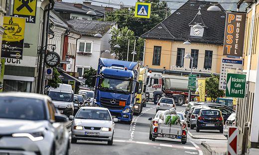 LKW Schwerverkehr Lastenverkehr Verkehr Lavamuend Juni 2019