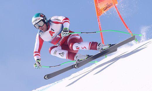 Vincent Kriechmayr führt in Saalbach