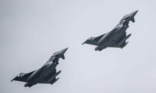 THEMENBILD, Flugshow FLYING BULLS, Eurofighter der oesterreichischen Luftstreitkraefte