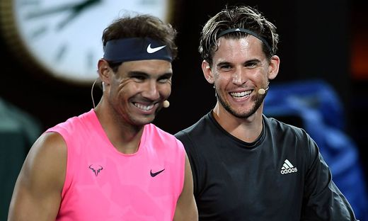 Rafael Nadal (links) und Dominic Thiem