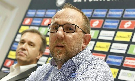 Günter Kreissl und Christian Jauk (links) standen den Journalisten Rede und Antwort