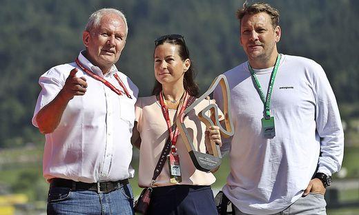 Helmut Marko, Birgit Lauda, Lukas Lauda