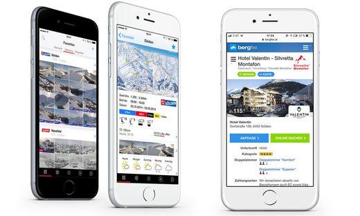Bergfex setzt mittlerweile auf drei eigene Apps