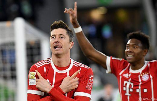 Bundesliga: Bayern gewinnen auch in Wolfsburg