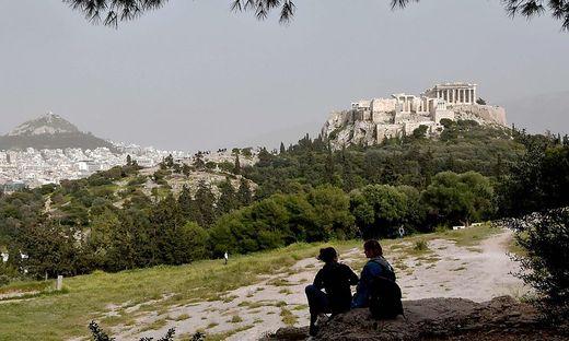 GREECE-WEATHER-DUST