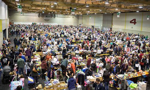 520 Tische werden an den insgesamt am Wochenende prall gefüllt mit Baby- und Kinderartikeln sein