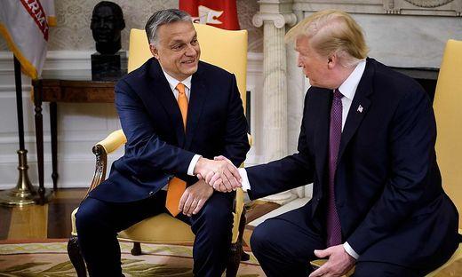 Orban bei Trump im Weißen Haus