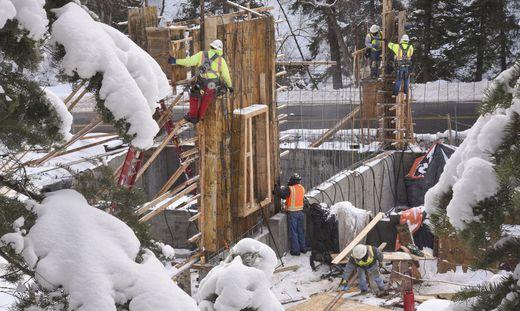 Auch im Winter soll in der Steiermark kräftig gebaut werden (Symbolbild)
