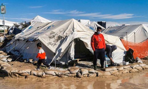 Im griechischen Flüchtlingslager Kara Tepe