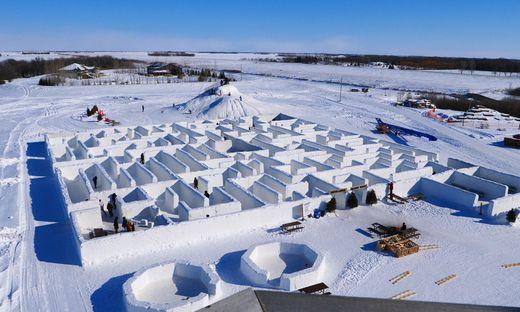 Das größte Schneel-Labyrinth der Welt steht in Kanada