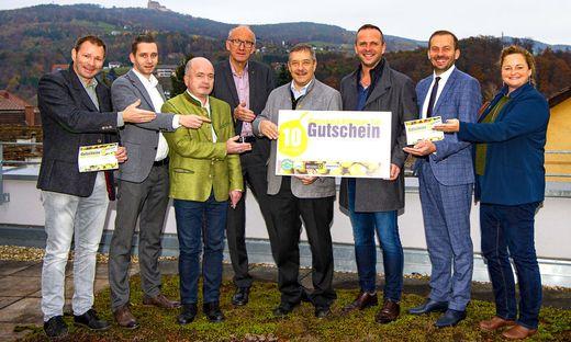 Die Projektgruppe aus dem Pöllauer Tal stellte den neuen Gutschein vor