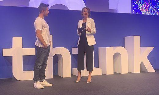 Marcel Hirscher und IBM-Österreich-Chefin Patricia Neumann