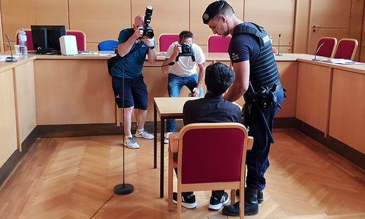 Der Angeklagt im Landesgericht Linz