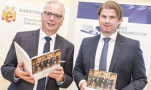 Landtagspräsident Reinhart Rohr und RH-Direktor Günter Bauer