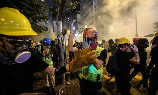 Sogar mit Tränengas wurde vorgegangen