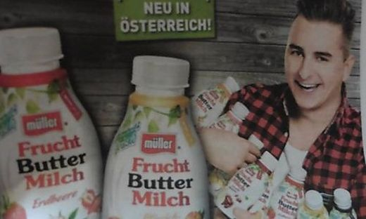 Mit dieser Werbung errege Andreas Gabalier den Ärger des Bauernbundes