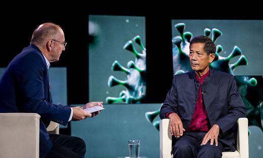 Sucharit Bhakdi im Interview mit Servus TV-Programmchef Ferdinand Wegscheider