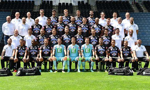 Das Mannschaftsfoto des SK Sturm vom 12. Juli 2018