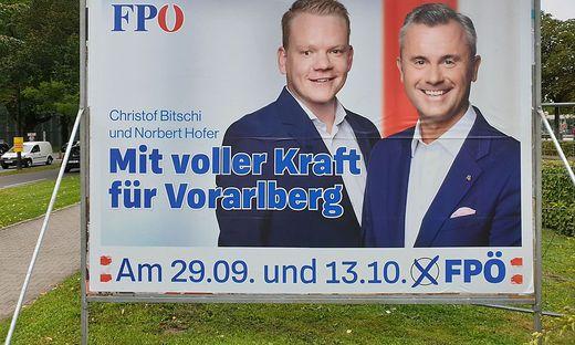Bitschi und Hofer auf dem FP-Plakat
