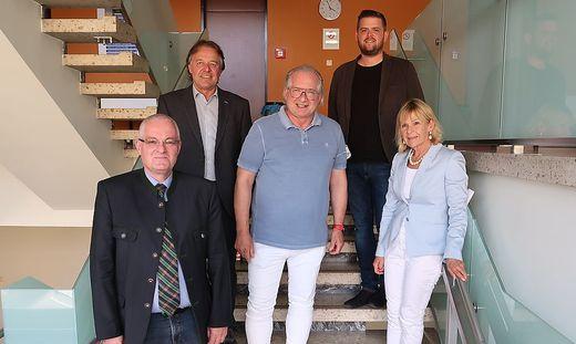 Bernhard Preiner, Wolfgang Klösch, Günther Hirschberger, Manuel Lösch und Andrea Kainz (v. l.)