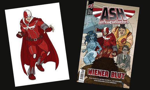 """Captain Austria und """"Wiener Blut"""" - das erste Heft der Austrian Superheroes"""