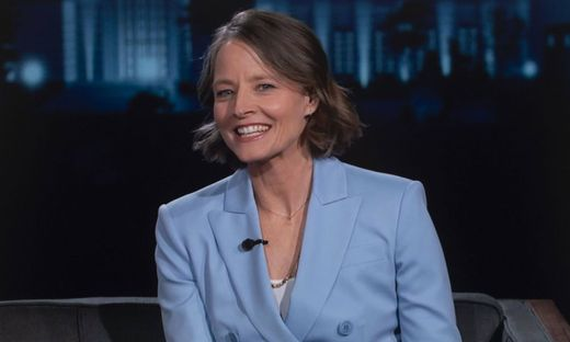 February 19, 2021, Los Angeles, California, USA - JODIE FOSTER discusses her new film The Mauritanian on Jimmy Kimmel L