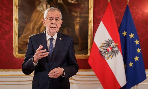 Bundespräsident Alexander Van der Bellen appelliert an die Bundesregierung