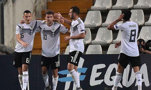 Die Deutschen feierten bei der U21-EM bislang zwei glatte Siege