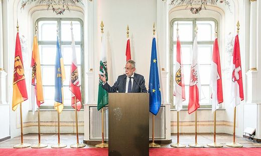 Bundespräsident Alexander van der Bellen beim Festakt in der Aula der Alten Universität in Graz