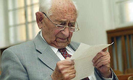 Franz Wurst während des Prozesses gegen ihn im Jahr 2002