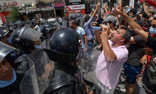 Aufgeheizte Stimmung in Tunesien