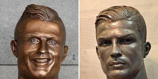 Ronaldo-Statue ist nicht mehr hässlich