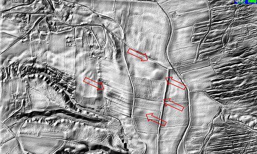 Mittels Laser Scanning aus der Luft wurden neue Fundstellen entdeckt.