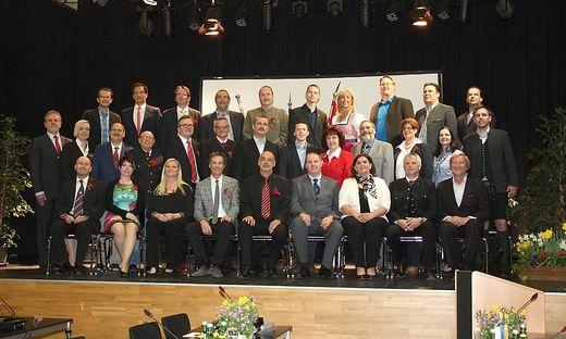 Der neu konstituierte Gemeinderat von Kapfenberg