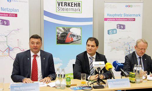 S-Bahn-Fans Leichtfried, Schickhofer und Reiterlehner.