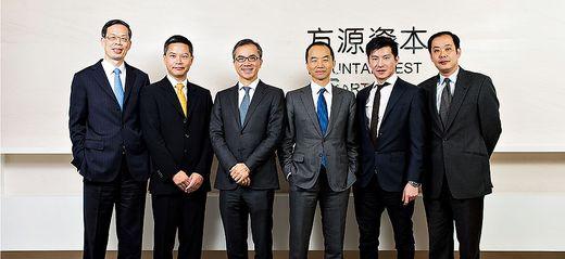Frank Tang, dritter von links, gründete 2008 mit seinen Partnern den Milliardenfonds Foutainvest