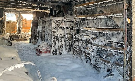 Brand in einem Betrieb mit Lithium-Batterien für die Elektromobilität im Dezember in Seeboden