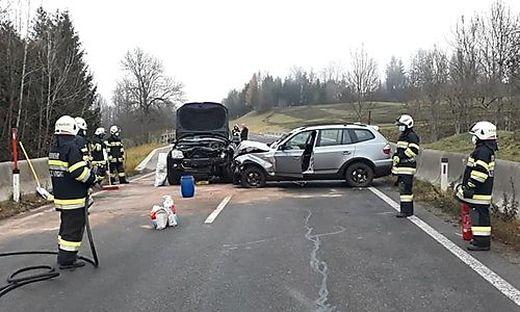 Die Feuerwehr sicherte die Unfallstelle ab