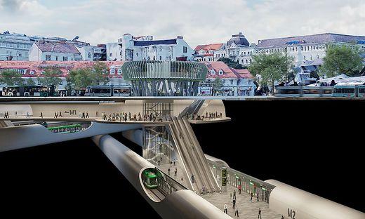 So soll der U-Bahnhof Jakominiplatz aussehen.